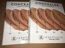 Anastasia Beverly Hills ~ THE CONCEALER SAMPLE SET OF 2 Light To Medium 4 Shades