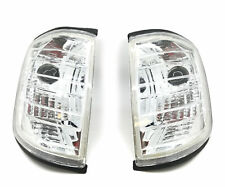 Front Indicators Detector Spare Part Clear Chrome Pair For Mercedes W124 85-96