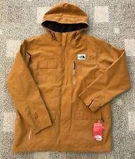The North Face Mens Cuchillo Hooded Parka Coat Golden Brown 2XL Fleece Lined