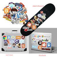50PCS Stickers Programmer ,Developer, Internet Brands Stickers sliding plate