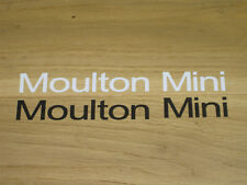 2 Moulton Mini Minx Frame Stickers Decals bike Black White Vintage Cycling Vinyl
