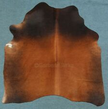 peau de vache bœuf fourrure taureau Tapis en noir marron (2127) TANNERIE Birke