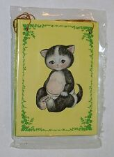 Four (4) Vintage 1989 Shackman Kitty Cucumber Gift Bags. #4