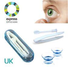 Insertador removedor de lentes de contacto suave Punta Pinzas Y Estuche higiénico uso diario Reino Unido