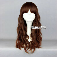 Long Mixed Dark Brown Anime Lolita Style Long Curly Lady Christmas Cosplay Wig