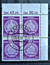 1954 DDR EAST GERMANY BLOCK OF 4 STAMPS WITH MARG Mi: DD DA26xIXII MINT MH*