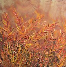 ORIGINAL  warm colours ACACIA ABSTRACT  Lynne Pickering 22016  HOMEDecorator 90x