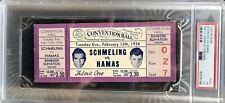 Max Schmeling / Steve Hamas 1934 Full Ticket & Hamas Signed Cut and Photo LOT