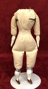 Nice Cloth Replacement Doll Body with Antique China Arms & Legs