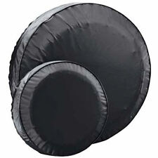 """Boat Trailer Spare Tire Cover Black Vinyl 15"""" Protects Spare Tire From Dry Rot"""