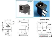 20pcs 5.5mm x 1.7mm DC socket for 0.65mm DC plug PCB Charger Power Plugs DC-005