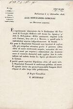 DOCUMENTO BARLASSINA MONZA BRIANZA 1816 CONTRATTI DI GRANAGLIE  4-185