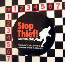 1970's Alarm Sticker for Classic Car - Stop Thief Funny Old Period Vintage Van