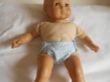 Set of 2 reversible fabric diapers for any 15' inch doll