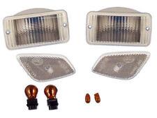 Jeep Wrangler TJ 97-06 Parking & Sidemarker Lamp Kit - Clear lens w/ Amber Bulbs
