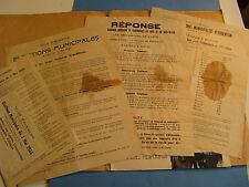 LOT TRACTS ELECTIONS MUNICIPALES ALENCON 1935 ORNE ARGENTAN PAMPHLET