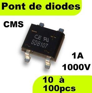 1510# Pont de diodes CMS 1A 1000V -- Prix dégressif en fonction de la quantité