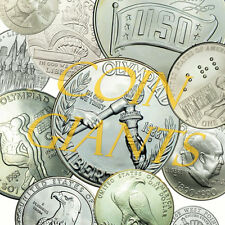 Lot 5x Random Years BU Brilliant Uncirculated Modern Commem. Silver Dollars S$1