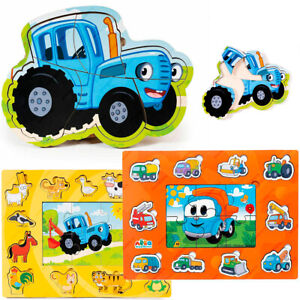 Bochart Puzzles Blue Tractor, Leo The Truck, Wood Toy Game, Original