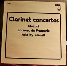 OPUS 3 LP 8801: Clarinet Concertos Mozart, etc. - Kjell Fageus - 1988 OOP Sweden