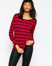 French Connection Mix It Up Stripe Long Sleeve Top | UK SMALL | NEW WITH TAGS