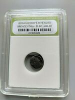 Authentic Widows Mite Ancient Coin Slabbed
