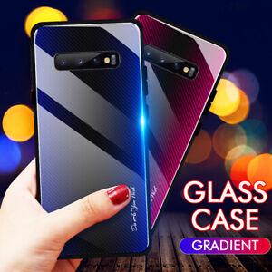 Gehärtetes Glas Back Case Handy Hülle Für Samsung Galaxy S10 S9 S8 Plus Note 9 8