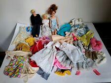 Vintage Barbie 1967? Skipper & 1968 Ken Doll 1978 Kenner Brunette Doll & Clothes