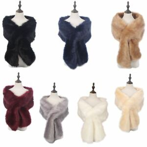 New Ladies Winter Faux Fur Scarf Neck Warmer Wrap Extra Large Collar Shawl Stole