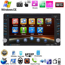 "6.2"" Double 2 Din Car CD DVD Player HD MP3 FM Radio Stereo GPS SAT NAV Bluetooth"
