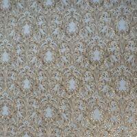 Embossed Wallpaper Victorian Vintage damask gray gold brass metallic Textured 3D