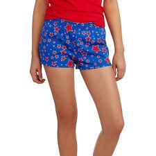 No Boundaries Junior's Royal Blue Red Star Print Shorts NWT LARGE