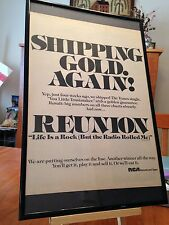 "BIG 11X17 FRAMED REUNION ""LIFE IS A ROCK (BUT THE RADIO ROLLED ME)"" 45 PROMO AD"
