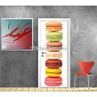 Stickers porte déco cuisine Macarons réf 9511 9511