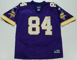 Rare Vintage ADIDAS Team Randy Moss Minnesota Vikings NFL Jersey 90s Purple SZ L
