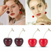 1 Pair Sweet Simulation Red Cherry Fruit Stud Earrings Women Girl Student Gift