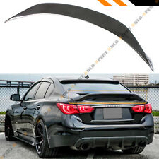 FOR 2014-2020 INFINITI Q50 HIGHKICK CARBON FIBER DUCKBILL TRUNK LID SPOILER WING
