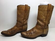 VTG WOMENS UNBRANDED COWBOY LEATHER BROWN BOOTS SIZE 7.5 C