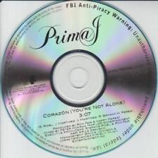 Prima J: Corazon (You're Not Alone) PROMO MUSIC AUDIO CD 3:07 1 track Geffen Rap