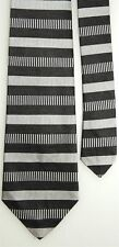 """Van Heusen Boys' 100% Silk Gray Charcoal Black Neck Tie 3"""" x 49 1/2"""""""