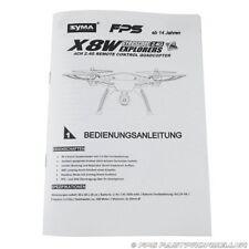 SYMA X8W RC Drohne Quadrocopter Deutsche FPS Anleitung Erklärung Headless Mode