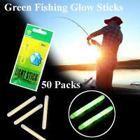 50pcs 7.5*75mm Green Fishing Night Fluorescent Light Float Glow Stick Lightstick