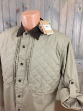 Woolrich Sportsman's Collection Sz M Beige L/S Shirt NWT Padded Hunting Shooting