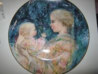 EDNA HIBEL plate Kristina and Child Royal Doulton 1975