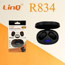 Set Doppio Auricolare LINQ R834 Cuffie Bluetooth Con Custodia Box Per Ricarica