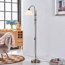 Stehlampe Otis Klassisch Antik Altmessing Glas Metall Stehleuchte Lampenwelt E14