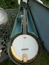 More details for five string fitzroy sunray banjo with resonator 1930 s