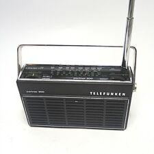 70er años maleta radio radio Telefunken socios 200 juega correctamente
