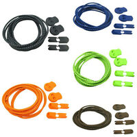 5Color Elastic Shoelace Lock Laces Shoe Strings Fastening Sports Locking Toggle
