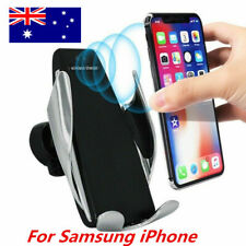 Automatic Sensor Clamping Wireless Car Charger Mount Holder For Samsung iPhone